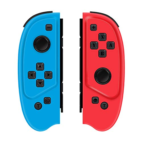 QUMOX Game Controller Gamepad Turbo-Funktion für die Switch-Konsole Rot&Blau
