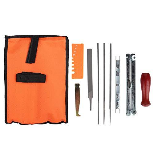 Liineparalle draagbare 10 stuks kettingzaag slijpen tool kit metaal kettingzaag bestand tool set geleiderail bestand bestand bestand MEHRWEG verpakking Yezer-eu