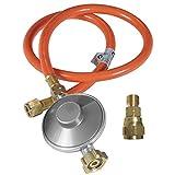 Outdoorchef Grill Gasdruckregler 50mbar– Druckminderer für einfache Selbstmontage – Gasschlauch + Druckregler + Adapter für Gasgrill