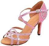MGM-Joymod - Sandalias de baile latino para mujer., color Rosa, talla 39 EU