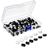600 Pieces Adjustable Buckle Cord Locks Silicone PVC Toggles Non Slip Cord Stopper Lanyard Elastic Cord Buckle Anti-Slip Elastic Adjuster with Storage Box for Ear Rope Earloop Supplies