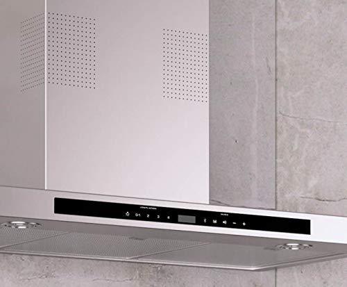 Alta calidad campana de pared verticales eficiencia energética A * * con radio digital, Wireless de altavoces con Bluetooth y manos libres/galvamet i-Hood 90/A/90cm/LED/Inox/100% Made in Italy