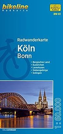 Radwanderkarte Köln RW-K1: Bonn wasserfest/reißfest