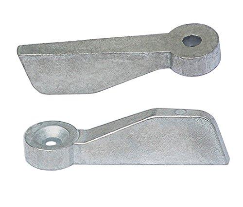 Preisvergleich Produktbild Vorreiber Fenstervorreiber Fensterriegel 50 x 16 mm Silber Verzinkt
