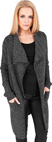 Urban Classics Mantel Knitted Long Cape Abrigo, Negro (Charcoal), X-Small (Talla del Fabricante: X-Small) para Mujer