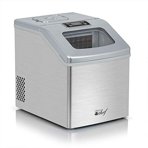Countertop Icemaker 40lb./Day Compact & Portable Freestanding Perfect for Kitchen, Bars, Restaurants or Picnic Outdoor Party Activities.