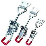Liuer 3pcs retención de cierre de puerta - 4001 (163Kg/ 359Lbs) 4002 (250Kg/ 551Lbs) 4003 (380Kg/ 837Lbs) palanca abrazadera Metal cierre pestillo de la puerta para el refrigerador tronco y el armario
