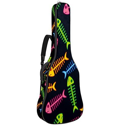 Bolsa para Guitarra Hueso de pescado de color Funda para Guitarra Acústica...