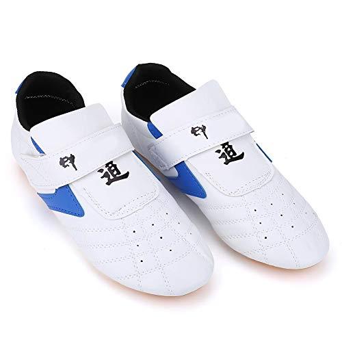 VGEBY Chaussures de Taekwondo, Baskets de Tai Chi Kung fu Taichi de Boxe Sportives résistantes à l'usure pour Adultes et Enfants(45)