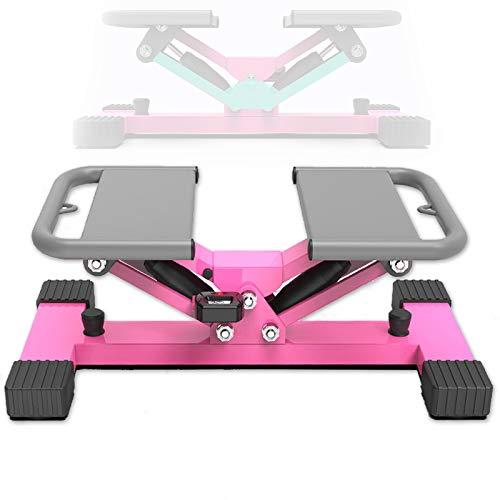 Grist CC Mini Stepper para Bajar De Peso, Stepper Fitness con Pantalla Multifuncional E Cuerdas De Resistencia, Mini Ejercitador De Pedal De Bicicleta De Escritorio Tipo Pedal