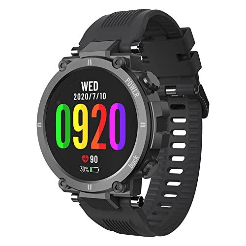 Raptor Reloj deportivo al aire libre BT Full Touching Reloj inteligente impermeable a prueba de polvo a prueba de choques Smartwatch (negro)