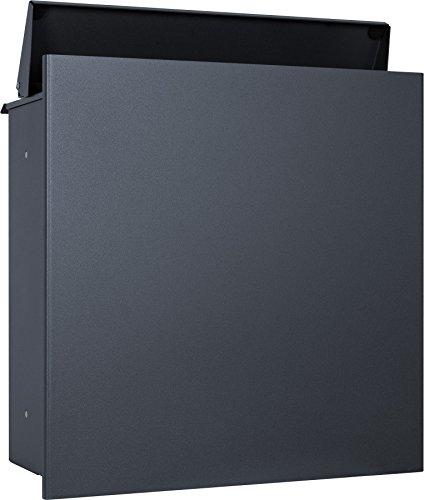 MOCAVI ZBox 111 Zaunbriefkasten anthrazit-grau ral7016 Durchwurf-Briefkasten Zaunmontage Entnahme hinten Designer-Postkasten
