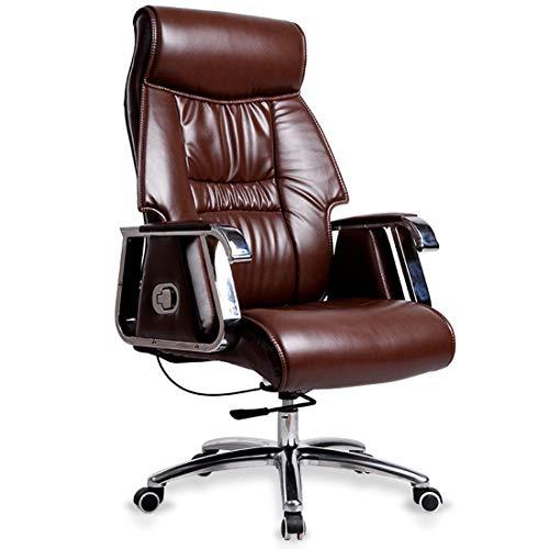 ADHKCF Antiker Stil Geschäftsführer Direktoren Schreibtisch Stuhl Luxus Pu-Leder Direktoren mit hoher Rückenlehne Chesterfield Furniture Recliner