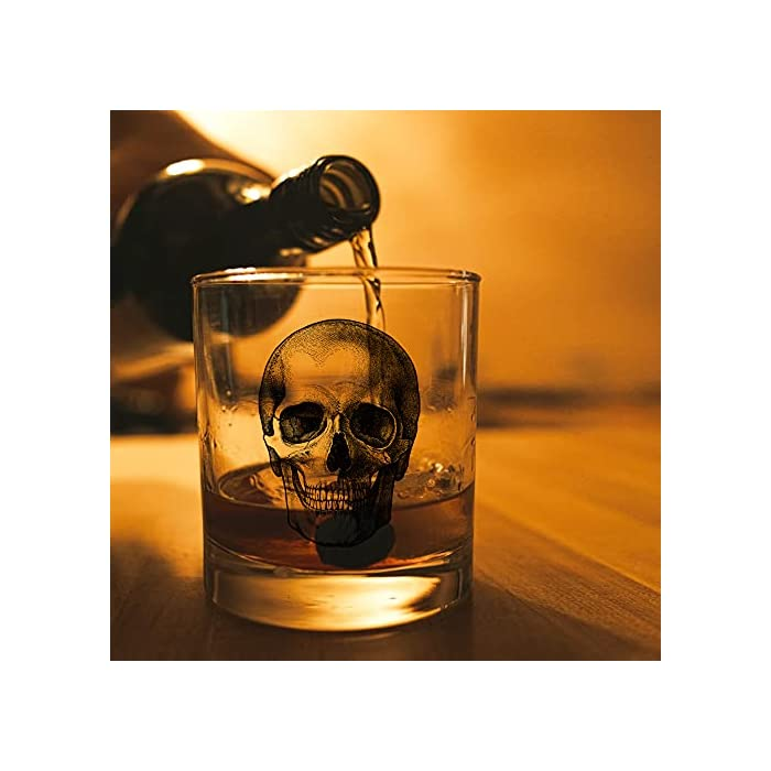 Agmdesign Skeleton Skull Whiskey Glass Halloween Whiskey Glass Fathers Day Gift For Men Husband Dad Brother Best Friend