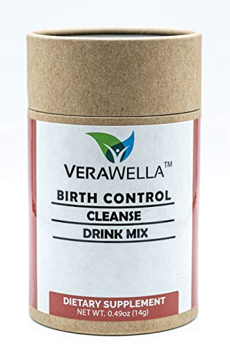 VeraWella Birth Control Cleanse   28 Servings   Fertility Supplements for Women to Balance Hormones, Support & Regulate Your Cycle   Folate and Chasteberry Vitamin Drink Mix Powder, Sugar Free