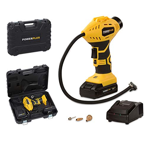 POWER plus POWX1700 Compressore a Batterie Portatile, Giallo