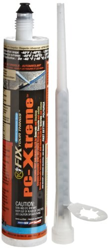 PC Products 92507 PC-Xtreme Polyurea Elastomeric Crack and Joint Filler, 8.6 oz Cartridge, Gray