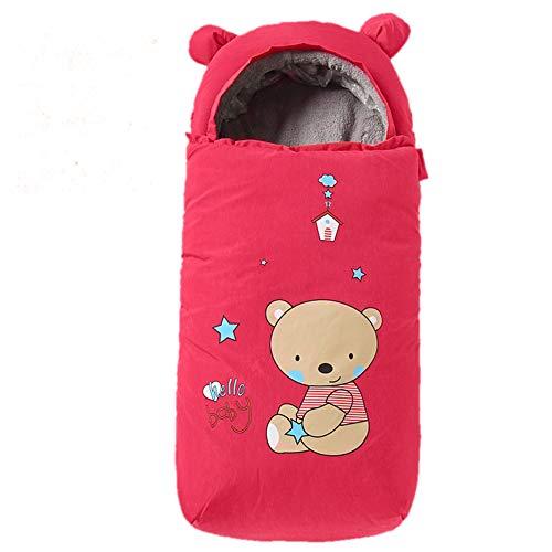 Baby GOUO@ Sac de Couchage pour Poussette bébé Couverture de Pied de Chariot à Pare-Brise pour Chariot Couverture Coupe-Vent épaisse et Chaude Automne et Hiver Sac Universel Bunting (90cm)