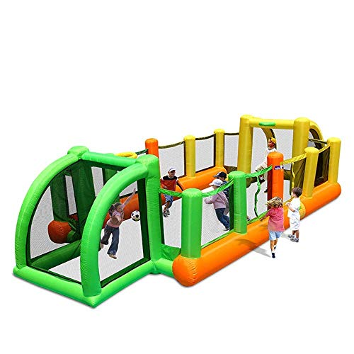 SYue Aufblasbare Hüpfburg für Kinder, Fußball-Hüpfburg mit Gebläse-Innengeburtstagsfeier für Gartensommer-Familienspaß im Freien