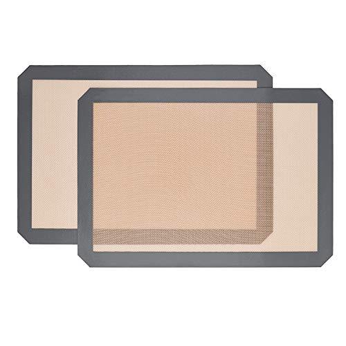 Silikon-Backmatte, antihaftbeschichtet, hohe Temperaturbeständigkeit, für Macarons, 41,9 x 29,5 cm, Grau, 2 Stück