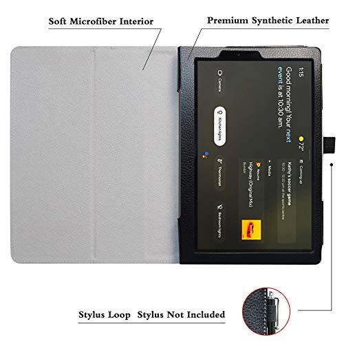 LFDZ Lenovo Yoga Smart Hülle,Schutzhülle mit Hochwertiges PU Leder Tasche Case für 10.1