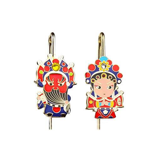 KUQIQI Cloisonné Metall Lesezeichen, Peking Opera Facebook Lesezeichen, Featured Handicraft Lesezeichen, Chinese Style Geschenk Lesezeichen. Facebook-Lesezeichen, (Color : A3)