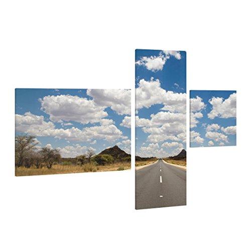 Bilderwelten Cuadro en Lienzo 3 Partes - Route 66 - Collage 2, Cuadros Cuadro Lienzo Cuadro sobre Lienzo Moderno Decoracion Decorativos XXL, Tamaño: 40x60 80x30 30x30cm