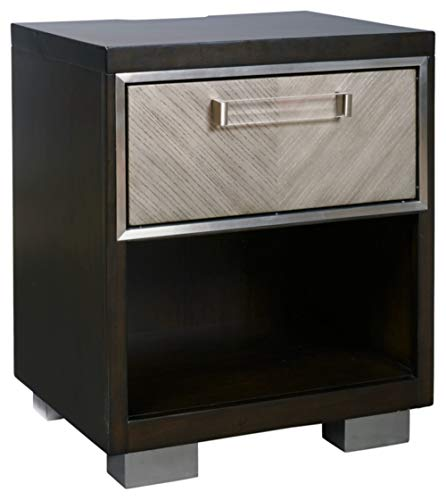 Signature Design by Ashley Maretto One Drawer Night Stand, Two-Tone
