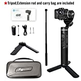 Feiyu G6 Upgraded Vesion Gimbal Stabilizer for Gopro Hero 8/7/6/5/4 with WiFi Build in Including Tripod and Extension Rod