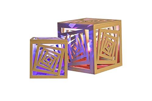 CVC- Lampada decorativa, collezione Cubiche, lavorazione legno. Dimensione 25x25x25 cm. Made in Italy
