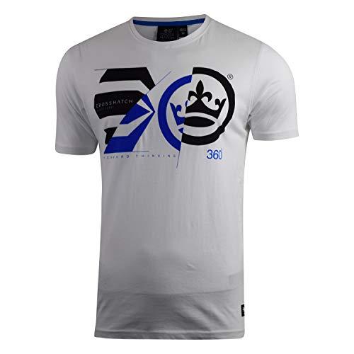 Crosshatch Meltdown T-Shirt, White, S Uomo