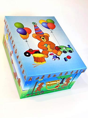 artra design GmbH Deko Karton Bauli Motiv 'Teddy' Original- Bauli aus Mailand Aufbwahrungsbox für Haushalt Büro Wäsche Geschenkbox Dekokarton Sammelbox Mehrzweckbox Ordnungskarton