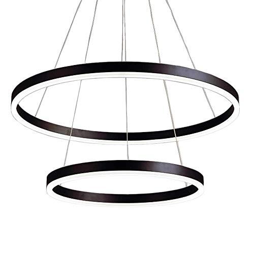 JIN Lámpara Útil Nórdica Posmoderna Minimalista Plata/Negro Combinación Led Lámpara Lámpara Lámpara Restaurante Salón/Comedor Creativo Diy Araña (Luz Blanca) Tallas Múltiples,B-Ambos,B-Ambos