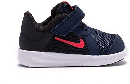 Nike Baby Girls & Toddler's Downshifter 8 Running Shoe (4C, Midnight Navy/Flash Crimson)