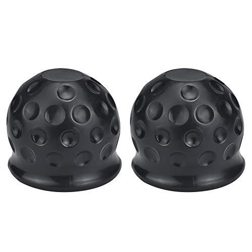 UTRUGAN 2 unidades de cubierta de goma para enganche de remolque, tapa protectora de bola negra, tapa de protección de bola de remolque, para coches, camiones, vehículos comerciales, remolques, barcos