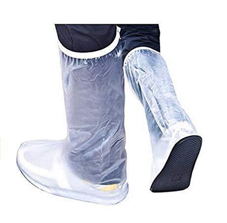 PANGUN Männer Frauen Regen Schuhe Decken Wasserdichte High Boots Flats Rutschfeste Overshoes Regen Gear-XL