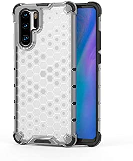 Fashion Phone case for Huawei P30 Pro,Fashion Shockproof Honeycomb Design PC + TPU Protective Case (Color : Clear)
