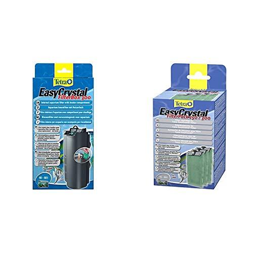 Tetra EasyCrystal Aquarium Filterbox 300 - Filter für kristallklares gesundes Wasser & EasyCrystal Filter Pack 250/300 Filterpads (Filtermaterial für EasyCrystal Innenfilter), 3 Stück