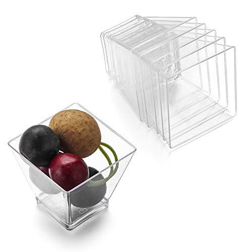NIUPAN 50st Wegwerp Plastic Bekers Transparant Portie Transparant Trapezoïdaal Voedsel Container voor Jelly Yoghurt Mousses Dessert Bakken Tools | Wegwerp Bekers |