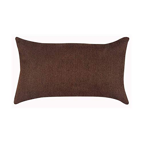 Salosan® Sofakissen, Lounge Rückenkissen, Kopfkissen, Couch- oder Palettenkissen, Dekokissen Strukturpolsterstoff in 7 Unifarben für Trendiges Wohndesign. Größe 40x70 cm (Braun)