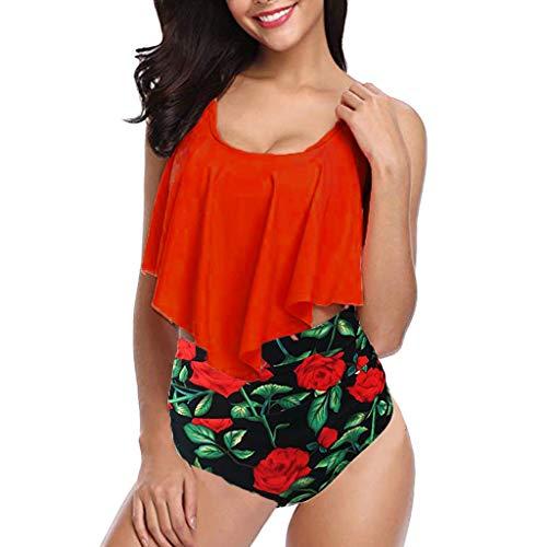 Bikinis Mujer 2019 Push up Traje de baño Mujer Dos Piezas Tallas Grandes POLP Bañadores Ropa de baño Tangas Playa Verano Bikini Brasileño Espalda Abierta 2PC