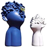 Gaobei Home Decor Statues Sculptures Decoration Resin Figure Gift (Blue White)