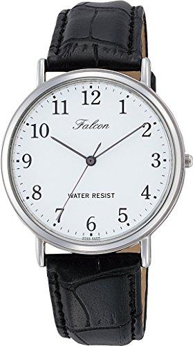 [シチズン Q&Q] 腕時計 アナログ 防水 革ベルト Q996-304 メンズ ホワイト