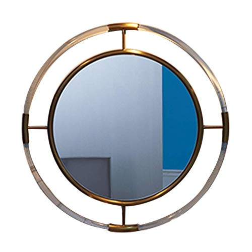 genral Großer runder Spiegel für Badezimmer, Schlafzimmer und Eingang, Wand-Schminkspiegel, transparenter Acrylrahmen-Dekorationsspiegel, Wohnzimmer-Kunst-Hängespiegel, 31,4 Zoll