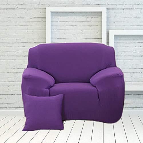 Nannan Zachte elastische stretch sofa cover effen kleur L-vormige hoekbank cover voor meubels fauteuil woonkamer huisdecoratie