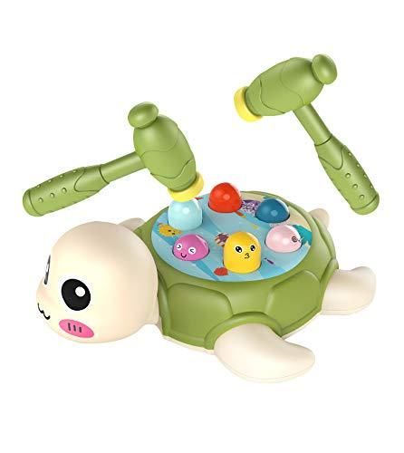 Sklepee Whack a un Juego de Lunares, Reflejos rápidos Tortugas Divertidas Whack-a-Tool Juguete con Martillo Golpe Juguete Educativo de Dibujos Animados de Juguete Interactivo para niños