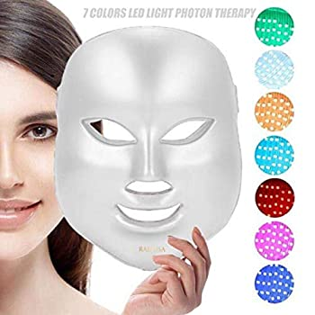 7 Color Facial Mask | Photon Face Skin Care System | Healthy Smooth Skin Rejuvenation | Anti-Aging Tightening Toning Wrinkle Treatment | Collagen Restoring & Whitening Device