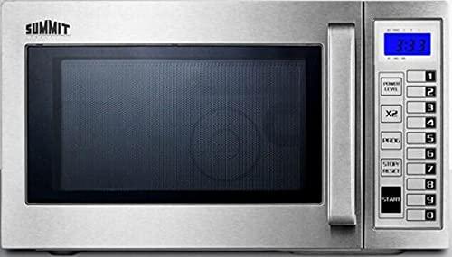 Summit SCM1000SS - Microwave, Stainless Steel, Digital Controls, 1000 Watts, 0.9 Capacity