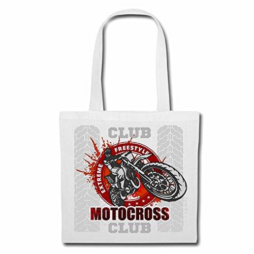 sac à bandoulière EXTREME MOTOCROSS EXTREME SPORT MOTOCROSS MOTOCROSS BIKE OUTDOOR Crossbike FREESTYLE Sac Turnbeutel scolaire en blanc