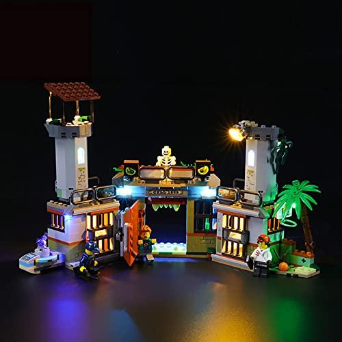 Conjunto De Luces para (Prisión Abandonada De Newbury Hidden Side) Modelo De Construcción De Bloques - Kit De Luz LED Compatible para Lego 70435(NO Incluido En El Modelo)